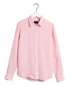 gant-naisten-pusero-the-linen-chambray-shirt-vaaleanpunainen-1