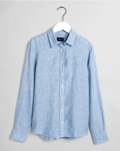 gant-naisten-pusero-the-linen-chambray-shirt-vaaleansininen-1