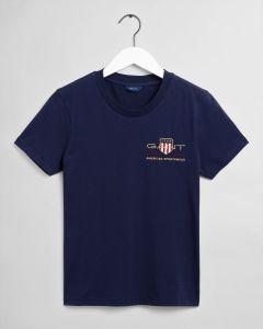 gant-naisten-t-paita-archive-shield-ss-t-shirt-tummansininen-1