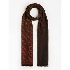 guess-naisten-huivi-valy-jacquard-scarf-80x180-oranssi-kuosi-2