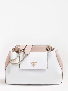 guess-naisten-laukku-sandrine-shoulder-satchel-valkoinen-1