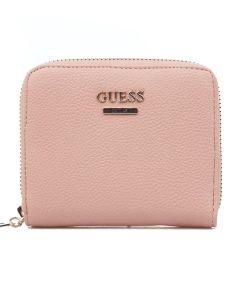 guess-naisten-lompakko-destiny-small-zip-around-vaaleanpunainen-1