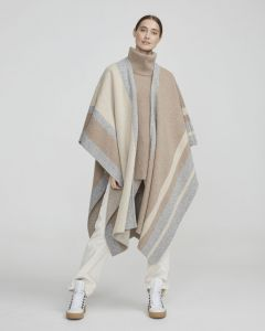 holebrook-naisten-villaponcho-hilma-kaftan-raidallinen-beige-1