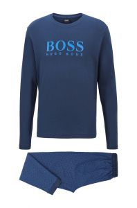 hugo-boss-pyjama-relax-long-set-tummansininen-1