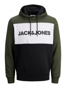 jack-and-jones-miesten-huppari-jjelogo-bloking-sweat-hood-vihrea-kuosi-2