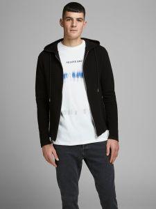 jack-and-jones-miesten-neuletakki-eliam-knit-hood-cardigan-musta-1
