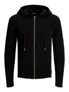 jack-and-jones-miesten-neuletakki-eliam-knit-hood-cardigan-musta-2