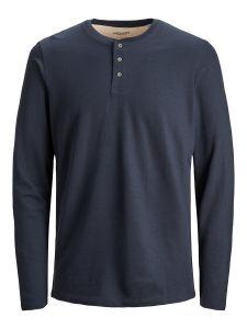 jack-and-jones-miesten-paita-henley-ls-tummansininen-1