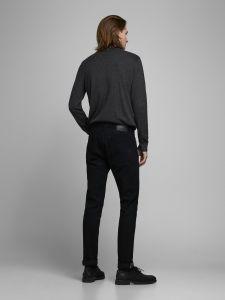 jack-and-jones-miesten-pooloneule-eemil-knit-roll-neck-tummanharmaa-2
