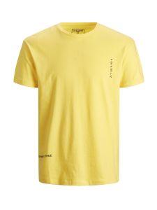 jack-and-jones-miesten-t-paita-jcometro-tee-ss-crew-neck-keltainen-1