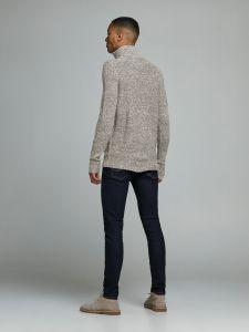 jack-and-jones-neule-jeffrey-knit-turttle-zip-tummanharmaa-2