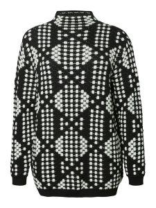 junarose-naisten-neule-nisa-ls-knit-pullover-mustavalkoinen-1