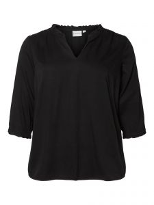 junarose-naisten-pusero-kalina-blouse-musta-1