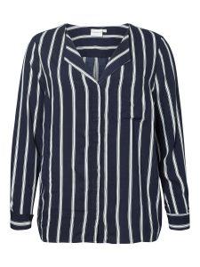 junarose-naisten-pusero-veronica-ls-stripe-raidallinen-sininen-1