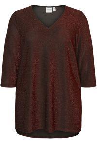junarose-naisten-t-paita-sakina-blouse-punainen-kuosi-1