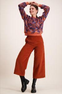 kaiko-naisten-housut-corduroi-culottes-oranssi-1