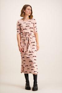 kaiko-naisten-mekko-belted-midi-dress-vaaleanpunainen-kuosi-1