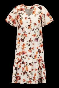 kaiko-naisten-mekko-frill-button-dress-ss-monivarinen-kuosi-1