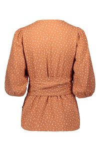 kaiko-naisten-t-paita-wrap-blouse-oranssi-kuosi-2