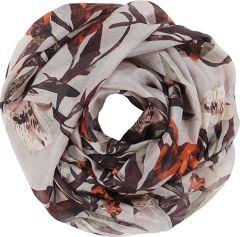 lasessor-naisten-silkkihuivi-leanne-tuubi-oranssi-kuosi-1