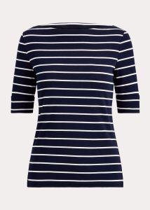 lauren-ralph-lauren-naisten-t-paita-judy-elbow-sleeve-knit-raidallinen-sininen-1