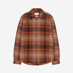makia-miesten-flanellipaita-overshirt-country-oranssiruutu-1