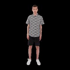 makia-miesten-kauluspaita-cliff-shirt-mustavalkoinen-1