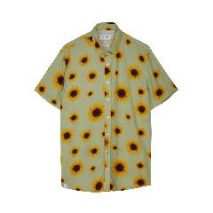 makia-miesten-lyhythihainen-kauluspaita-common-ss-shirt-keltainen-kuosi-1