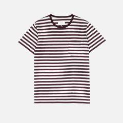 makia-miesten-t-paita-verkstad-raidallinen-viininpunaionen-1