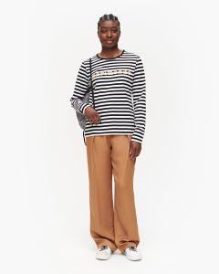 marimekko-naisten-paita-logo-mari-paita-ls-raidallinen-ruskea-1