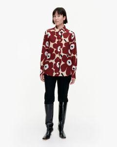 marimekko-naisten-paita-toiveikas-pieni-unikko-2-paita-viininpunainen-kuosi-1