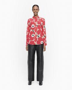 marimekko-naisten-paitapusero-toiveikas-pieni-unikko-punainen-kuosi-1