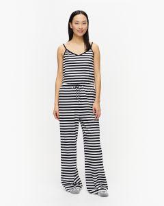 marimekko-naisten-pyjamahousut-hiljainen-202-raidallinen-musta-1