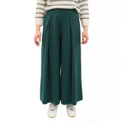 max-mara-weekend-naisten-jerseyhousut-ussita-culotte-armeijanvihrea-1