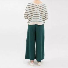 max-mara-weekend-naisten-jerseyhousut-ussita-culotte-armeijanvihrea-2