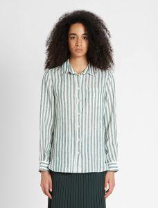 max-mara-weekend-naisten-paitapusero-guinea-shirt-linen-raidallinen-vihrea-1