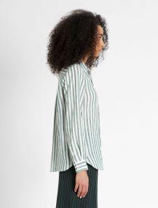 max-mara-weekend-naisten-paitapusero-guinea-shirt-linen-raidallinen-vihrea-2