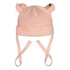 metsola-lasten-myssy-rib-beanie-bear-vaaleanpunainen-1