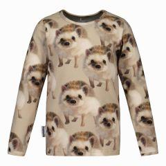 metsola-lasten-paita-hedgehog-shirt-ruskea-kuosi-1
