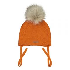 metsola-lasten-pipo-1-pom-pom-baby-beanie-fur-oranssi-1