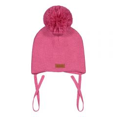 metsola-lasten-villapipo-merino-baby-beanie-1-pom-pom-vaaleanpunainen-1
