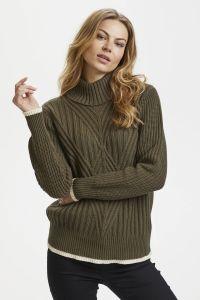 naisten-pooloneule-ewy-pullover-armeijanvihrea-1