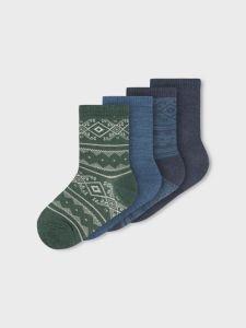 name-it-lasten-sukat-nmmwak-wool-4-pack-sock-monivarinen-kuosi-1