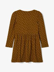 name-it-mekko-nmfnille-ls-dress-konjakinruskea-2