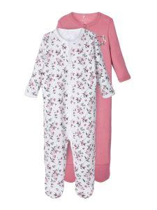 name-it-newborn-yohaalari-2-kpl-nightsuit-2p-punainen-kuosi-1