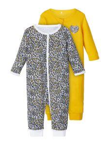 name-it-newborn-yohaalari-2-kpl-pkt-nightsuit-2p-zip-keltainen-kuosi-1