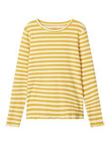 name-it-tyttojen-trikoopaita-nkfvemma-ls-slim-top-raidallinen-keltainen-1
