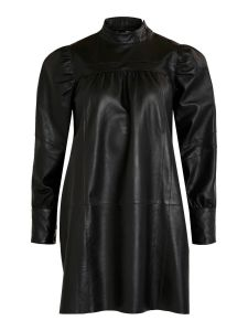 object-naisten-mekko-chris-leather-dress-musta-1