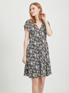object-naisten-mekko-objbarb-aya-short-dress-musta-kuosi-1