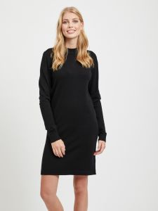 object-naisten-mekko-thess-ls-knit-dress-musta-1